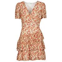 Textiel Dames Korte jurken Moony Mood ORNAMA Wit / Multicolour