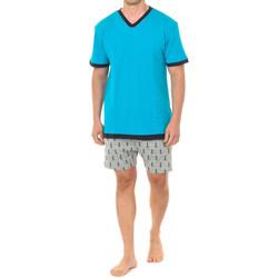 Textiel Heren Pyjama's / nachthemden J And J Brothers Pyjama à manches courtes J&J Brothers Multicolour