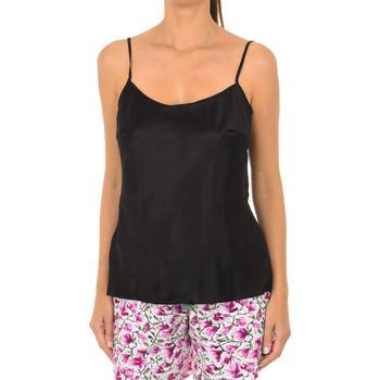 Ondergoed Dames Hemden DIM Débardeur en satin adorable. Zwart