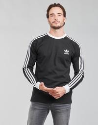 Textiel Heren T-shirts met lange mouwen adidas Originals 3-STRIPES LS T Zwart