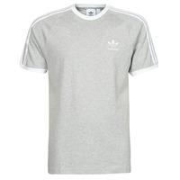 Textiel Heren T-shirts korte mouwen adidas Originals 3-STRIPES TEE Bruyère / Grijs / Moyen
