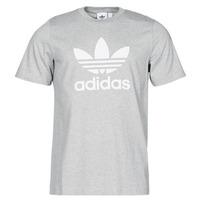 Textiel Heren T-shirts korte mouwen adidas Originals TREFOIL T-SHIRT Bruyère / Grijs / Moyen