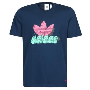 Textiel Heren T-shirts korte mouwen adidas Originals 6 AS TEE Blauw / Marine