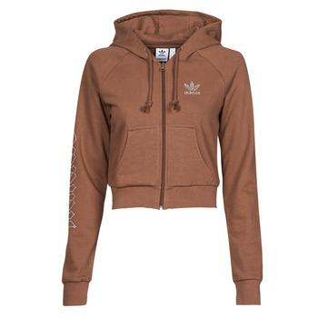 Textiel Dames Sweaters / Sweatshirts adidas Originals CROPPED TT Brown