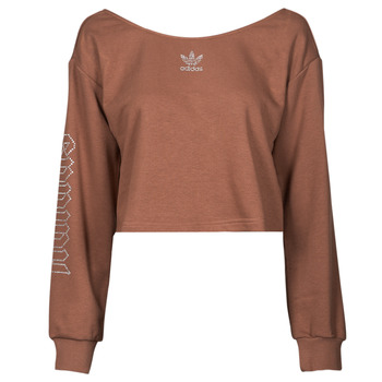 Textiel Dames Sweaters / Sweatshirts adidas Originals SLOUCHY CREW? Brown