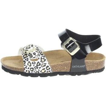 Schoenen Meisjes Sandalen / Open schoenen Grunland SB1525-40 Black/White