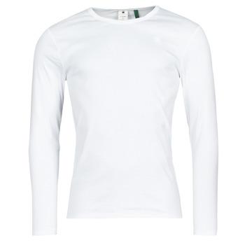Textiel Heren T-shirts met lange mouwen G-Star Raw BASE R T LS 1-PACK Wit