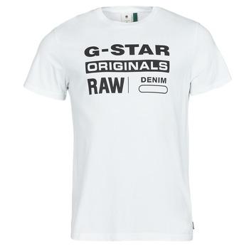 Textiel Heren T-shirts korte mouwen G-Star Raw GRAPHIC 8 R T SS Wit