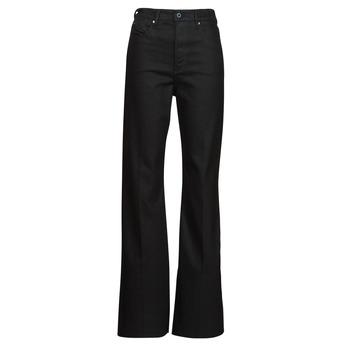 Textiel Dames Bootcut jeans G-Star Raw DECK ULTRA HIGH WIDE LEG Zwart