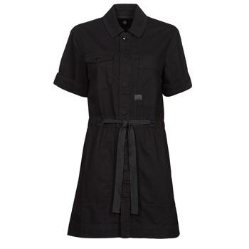 Textiel Dames Korte jurken G-Star Raw ARMY DRESS SHORT SLEEVE Zwart