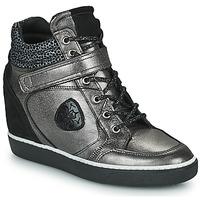 Schoenen Dames Hoge sneakers Philippe Morvan NOEK Zwart / Zilver