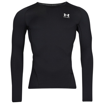 Textiel Heren T-shirts met lange mouwen Under Armour UA HG ARMOUR COMP LS Zwart / Wit