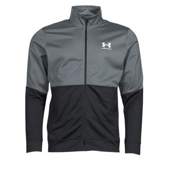 Textiel Heren Sweaters / Sweatshirts Under Armour UA PIQUE TRACK JACKET Grijs / Wit