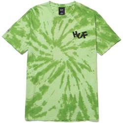 Textiel Heren T-shirts & Polo's Huf T-shirt haze brush tie dye ss Groen