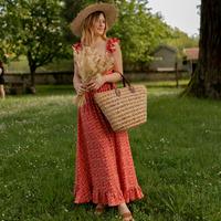 Textiel Dames Lange jurken Céleste AURORE version courte Rood