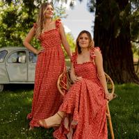Textiel Dames Lange jurken Céleste AURORE Rood