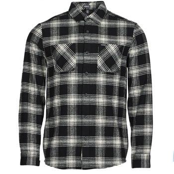 Textiel Heren Overhemden lange mouwen Volcom TONE STONE L/S Zwart