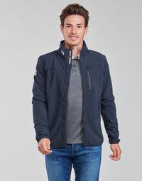 Textiel Heren Wind jackets Helly Hansen CREW SOFTSHELL JACKET 2.1 Marine