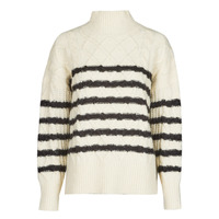 Textiel Dames Truien Betty London PARADE Ecru / Marine