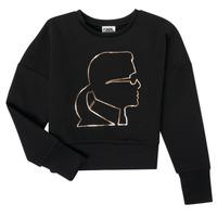 Textiel Meisjes Sweaters / Sweatshirts Karl Lagerfeld CORNALINE Zwart