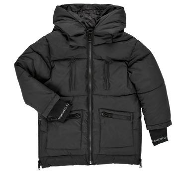 Textiel Meisjes Dons gevoerde jassen Karl Lagerfeld DIAMANT NOIR Zwart