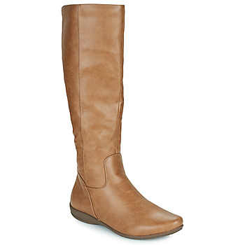 Schoenen Dames Hoge laarzen Moony Mood PLERILA  camel