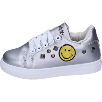 Schoenen Meisjes Lage sneakers Smiley BJ987 Zilver