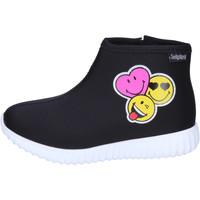 Schoenen Meisjes Enkellaarzen Smiley BJ989 Zwart