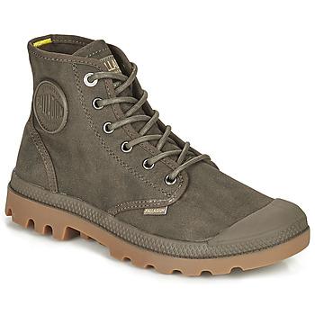 Schoenen Laarzen Palladium PAMPA CANVAS Brown
