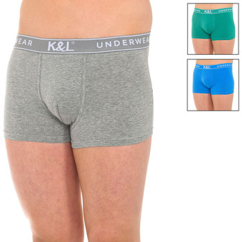 Ondergoed Heren Boxershorts Kisses And Love Pack-3 Boxers bisous et amour Multicolour