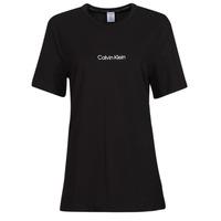 Textiel Dames T-shirts korte mouwen Calvin Klein Jeans SS CREW NECK Zwart