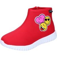 Schoenen Meisjes Enkellaarzen Smiley BJ990 Rood