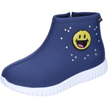 Schoenen Meisjes Enkellaarzen Smiley BJ991 Blauw