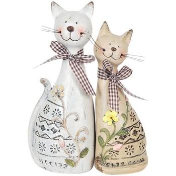Wonen Beeldjes Signes Grimalt Paar Katten Set 2 Eenheden Multicolor