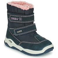 Schoenen Jongens Snowboots Citrouille et Compagnie POUDOU Blauw / Roze