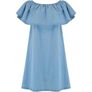 Textiel Dames Korte jurken Animal  Chambray Blauw