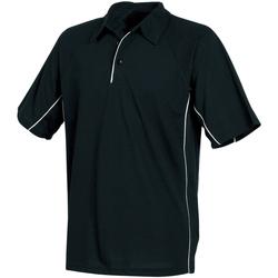 Textiel Heren Polo's korte mouwen Tombo Teamsport Pique Zwart/Zwart/Witte bies