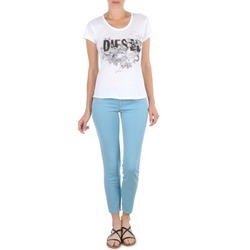 Textiel Dames Korte broeken Diesel LIVIER-ANKLE Blauw