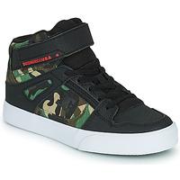 Schoenen Jongens Hoge sneakers DC Shoes PURE HIGH-TOP EV Zwart / Camouflage