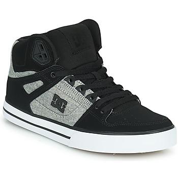 Schoenen Heren Hoge sneakers DC Shoes PURE HIGH-TOP WC Zwart / Grijs