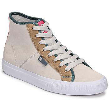 Schoenen Dames Hoge sneakers DC Shoes MANUAL HI SE Beige