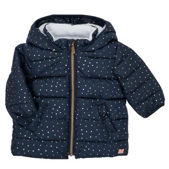 Textiel Meisjes Dons gevoerde jassen Carrément Beau AIGUE-MARINE Marine