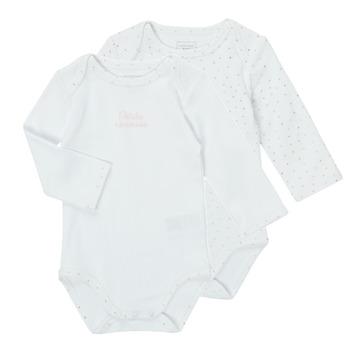 Textiel Meisjes Pyjama's / nachthemden Carrément Beau ANTHRACITE Wit