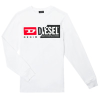 Textiel Kinderen T-shirts met lange mouwen Diesel TDIEGOCUTY ML Wit