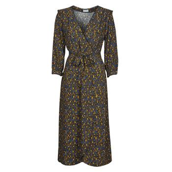 Textiel Dames Lange jurken Vila VIZUGI Zwart / Geel / Blauw