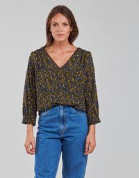 Textiel Dames Tops / Blousjes Vila VIZUGI Zwart / Geel / Blauw