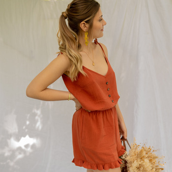 Textiel Dames Jumpsuites / Tuinbroeken Céleste NEROLI Terracotta