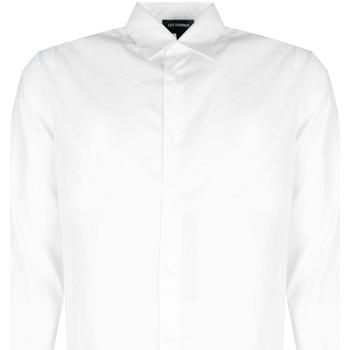 Textiel Heren Overhemden lange mouwen Les Hommes  Wit