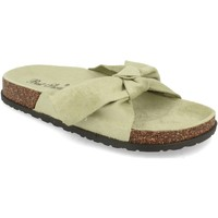 Schoenen Dames Leren slippers Milaya 3S12 Verde