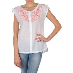 Textiel Dames Overhemden korte mouwen Antik Batik AYLA Wit